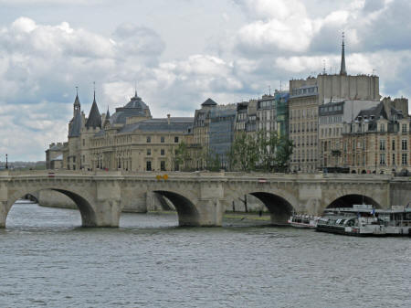 Ile de la Cite in Paris France