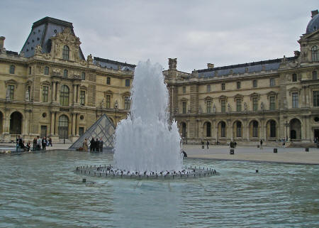 Fountain at the Louvre in Paris