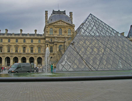 Louvre Pyramid, Paris France