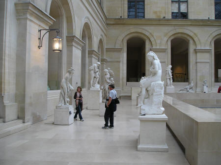 Sculptures at the Louvre Museum in Paris