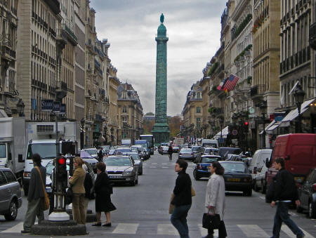 Place Vendome in Paris France